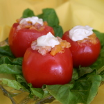 Bacon & Cheese Stuffed Tomato