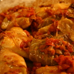 Chicken Stuffed Cabbage Rolls